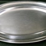 Platten oval Edelstahl
